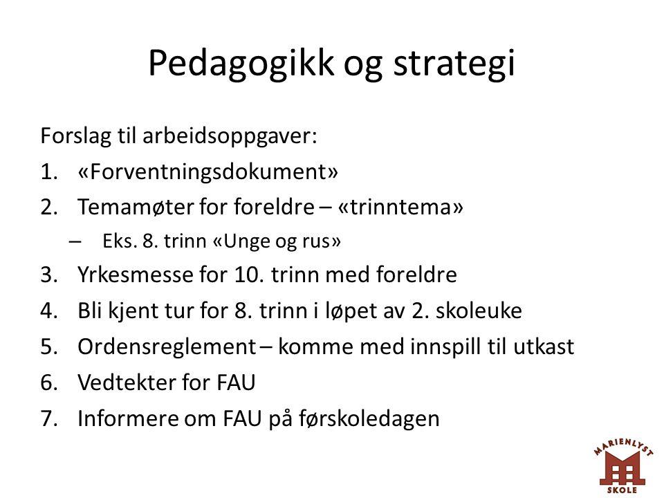 Pedagogikk og strategi