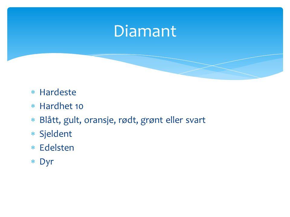 Diamant Hardeste Hardhet 10