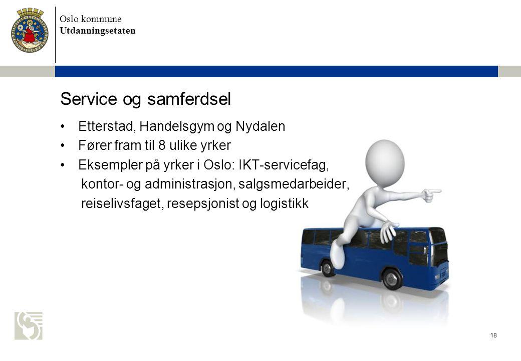 Service og samferdsel Etterstad, Handelsgym og Nydalen