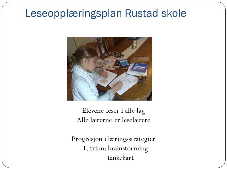 Leseopplæringsplan Rustad skole
