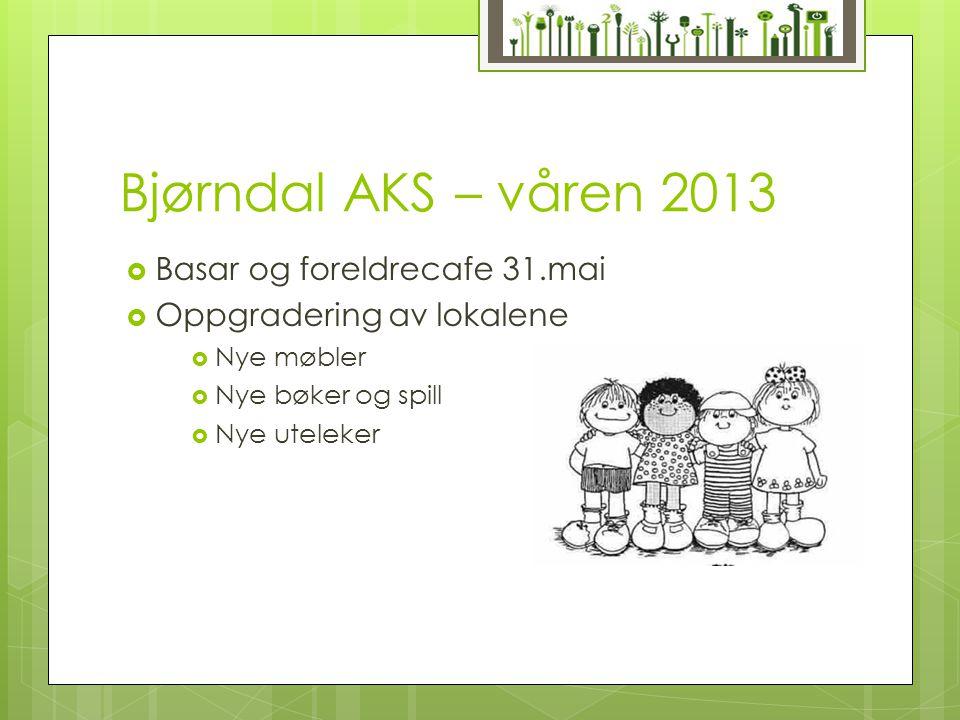 Bjørndal AKS – våren 2013 Basar og foreldrecafe 31.mai