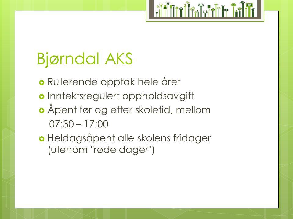 Bjørndal AKS Rullerende opptak hele året