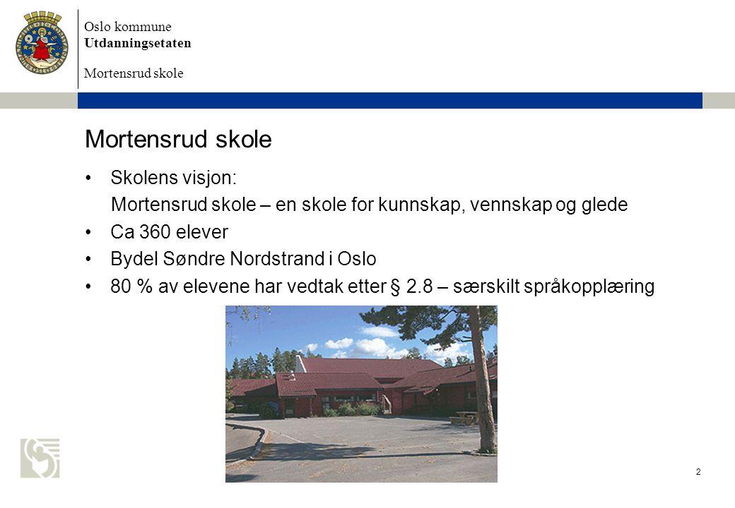 Mortensrud skole Skolens visjon:
