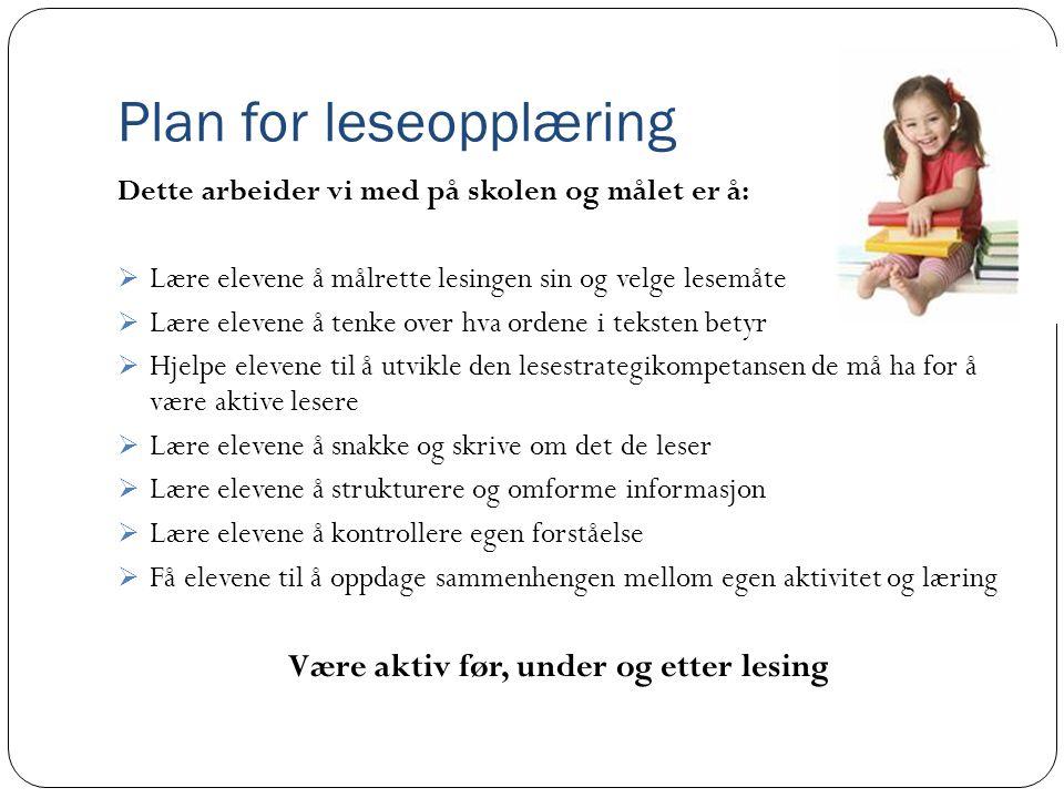 Plan for leseopplæring