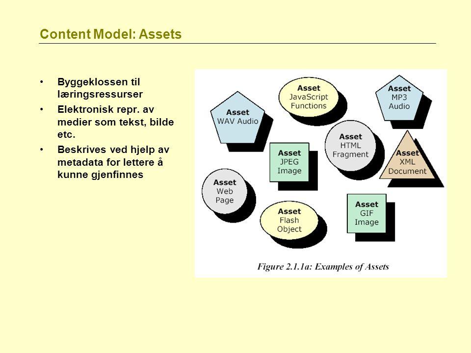 Content Model: Assets Byggeklossen til læringsressurser