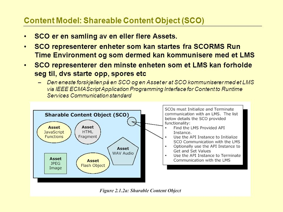 Content Model: Shareable Content Object (SCO)