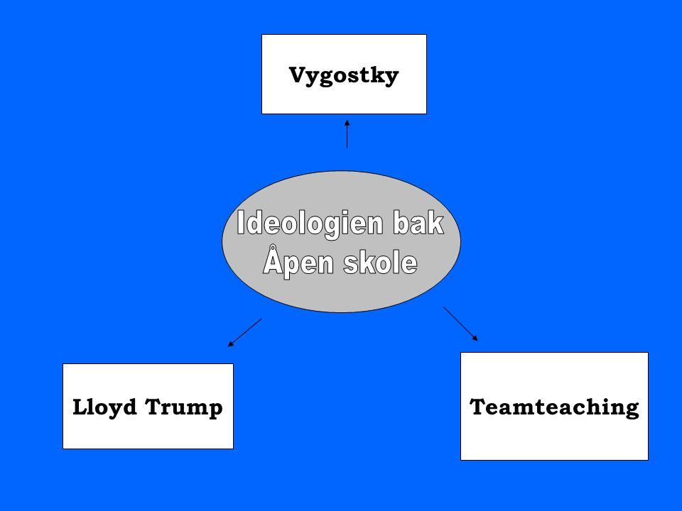 Ideologien bak Åpen skole Vygostky Teamteaching Lloyd Trump