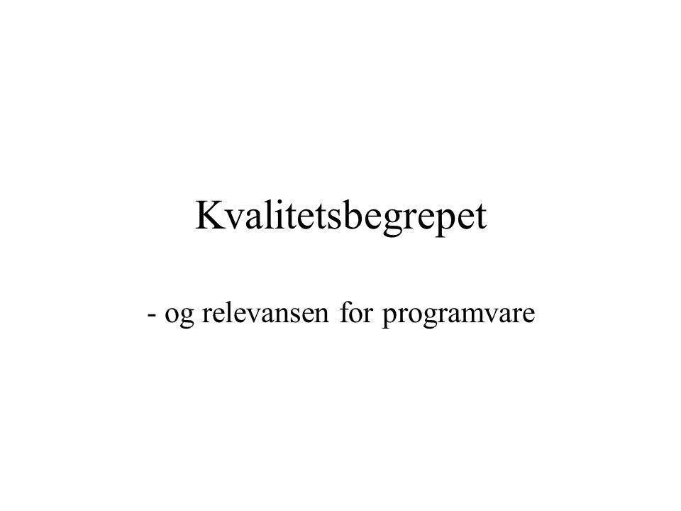 - og relevansen for programvare