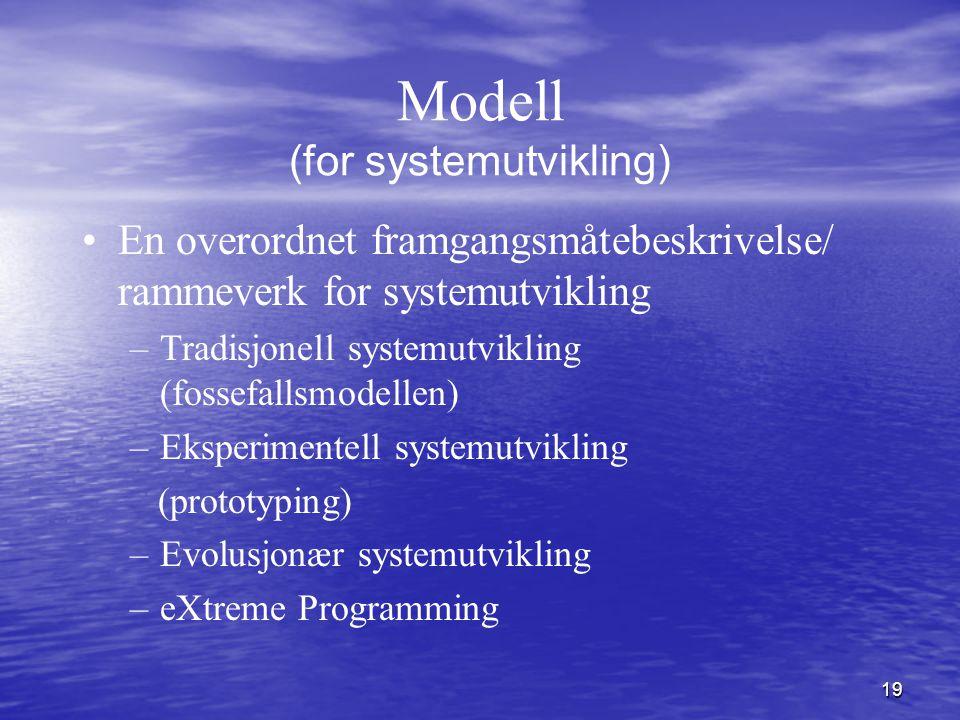 Modell (for systemutvikling)