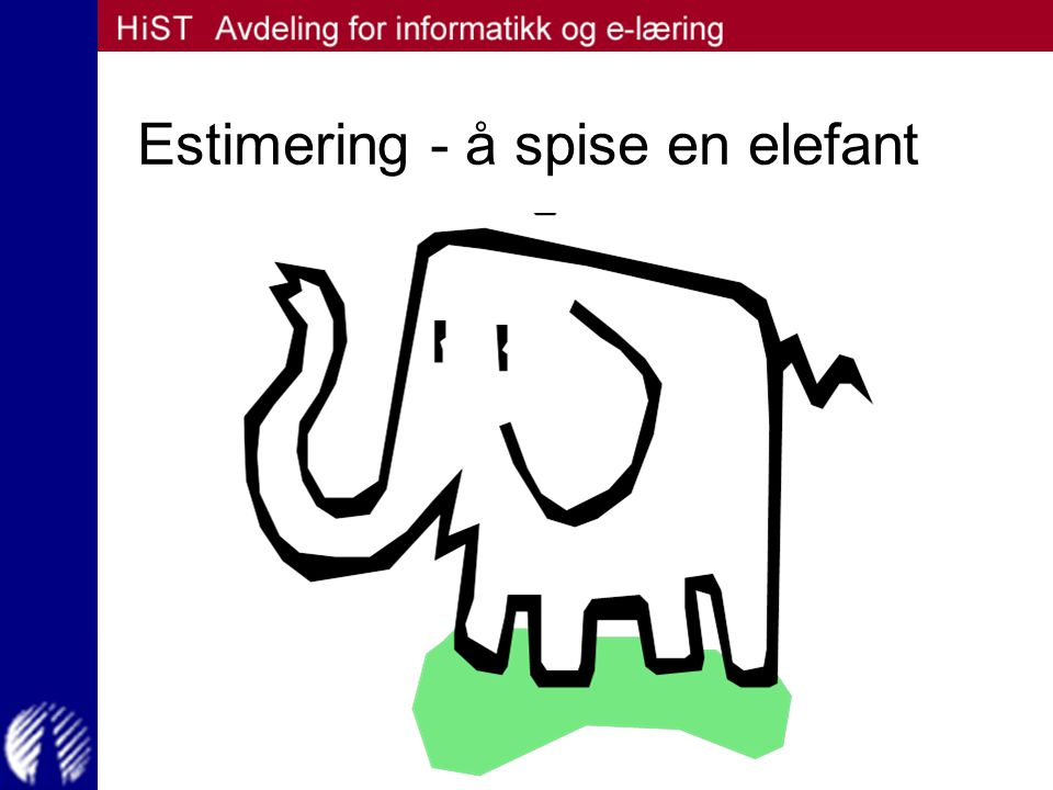 Estimering - å spise en elefant