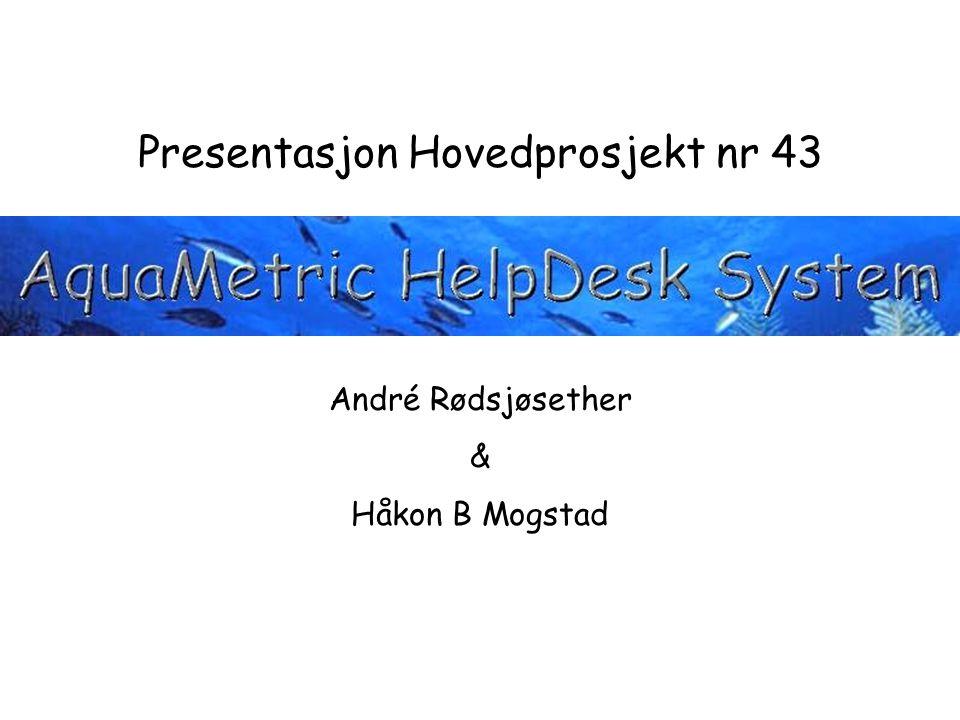 Presentasjon Hovedprosjekt nr 43