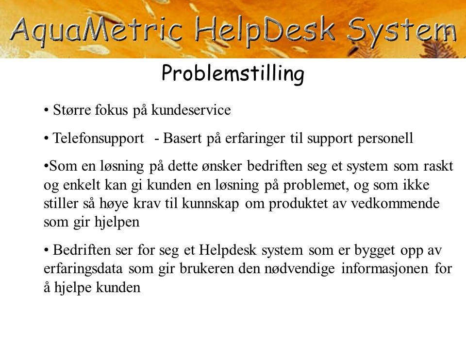 Problemstilling Større fokus på kundeservice