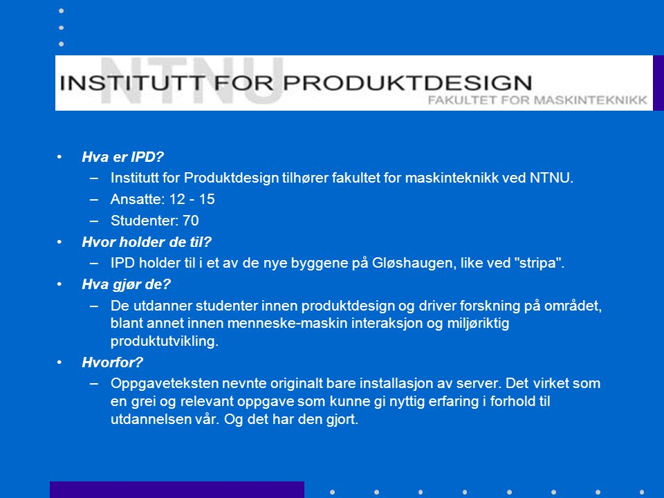 Institutt for Produktdesign