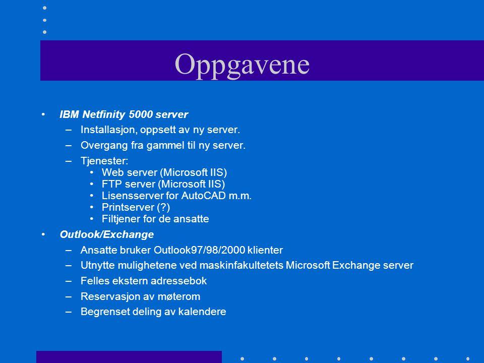 Oppgavene IBM Netfinity 5000 server