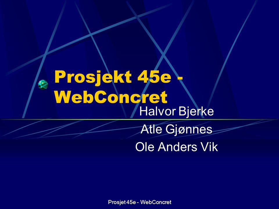Prosjekt 45e - WebConcret