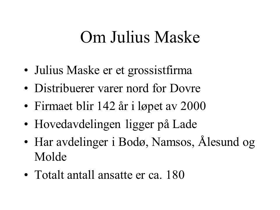 Om Julius Maske Julius Maske er et grossistfirma