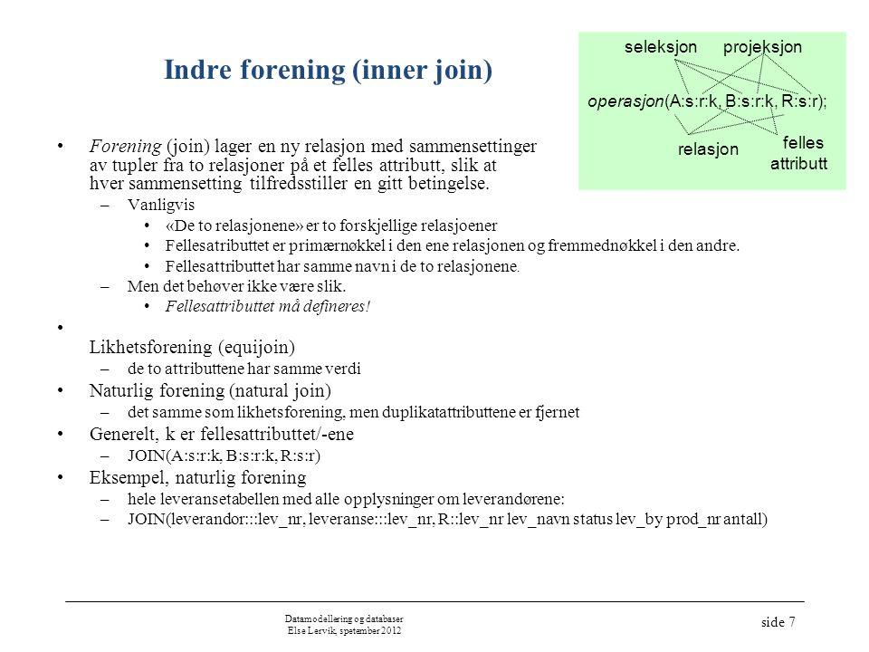 Indre forening (inner join)