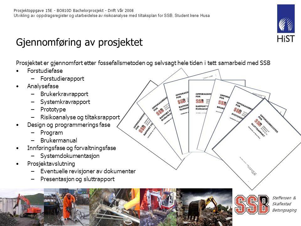 Gjennomføring av prosjektet