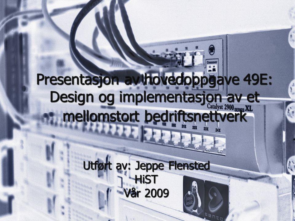 Utført av: Jeppe Flensted HiST Vår 2009
