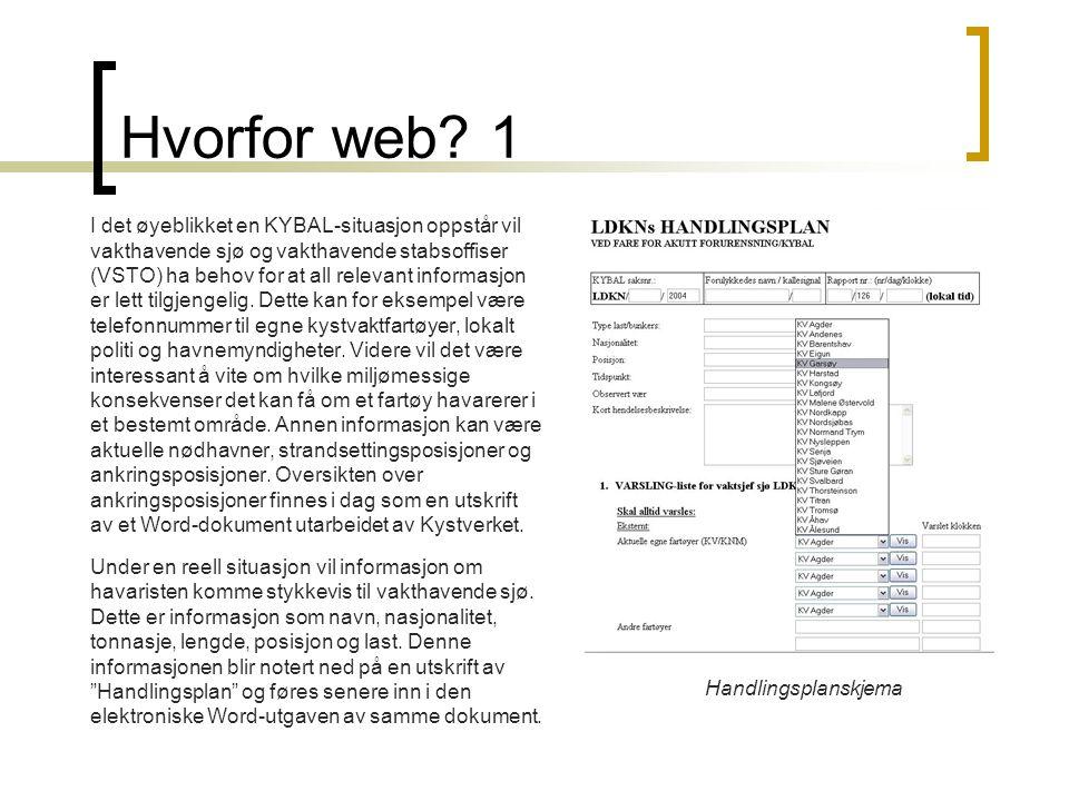 Hvorfor web 1