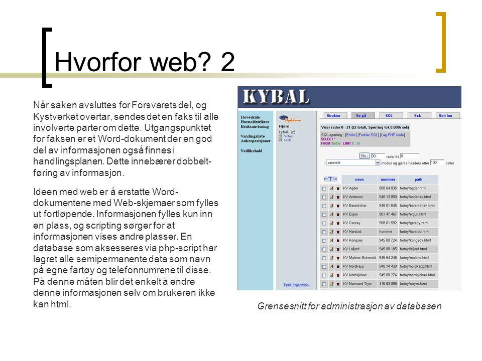 Hvorfor web 2