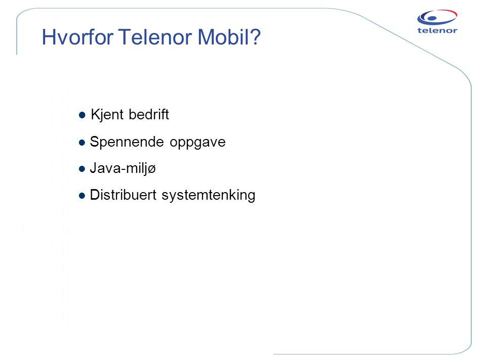 Hvorfor Telenor Mobil Kjent bedrift Spennende oppgave Java-miljø