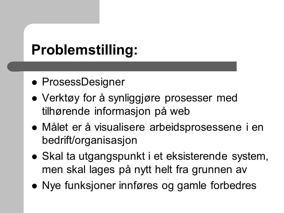 Problemstilling: ProsessDesigner