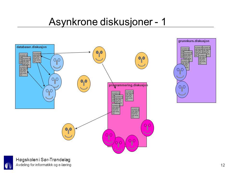 Asynkrone diskusjoner - 1