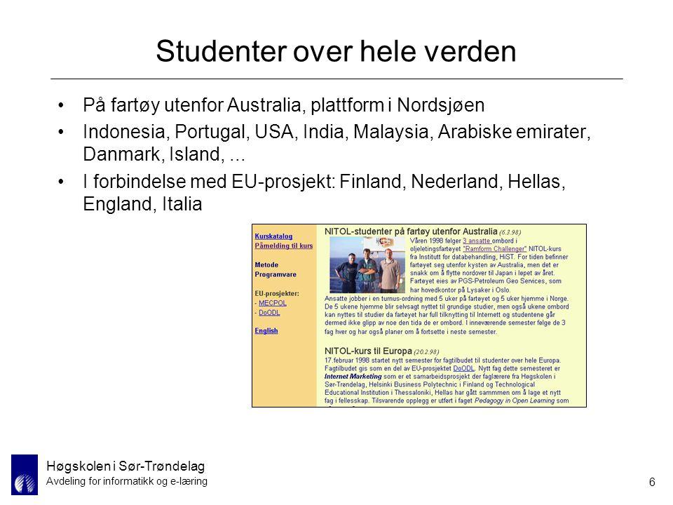 Studenter over hele verden