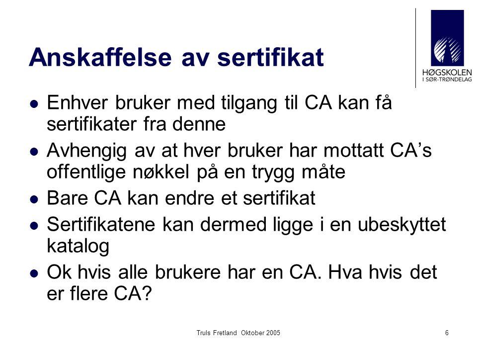 Anskaffelse av sertifikat
