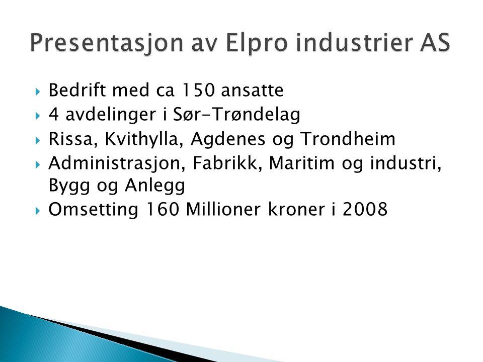 Presentasjon av Elpro industrier AS