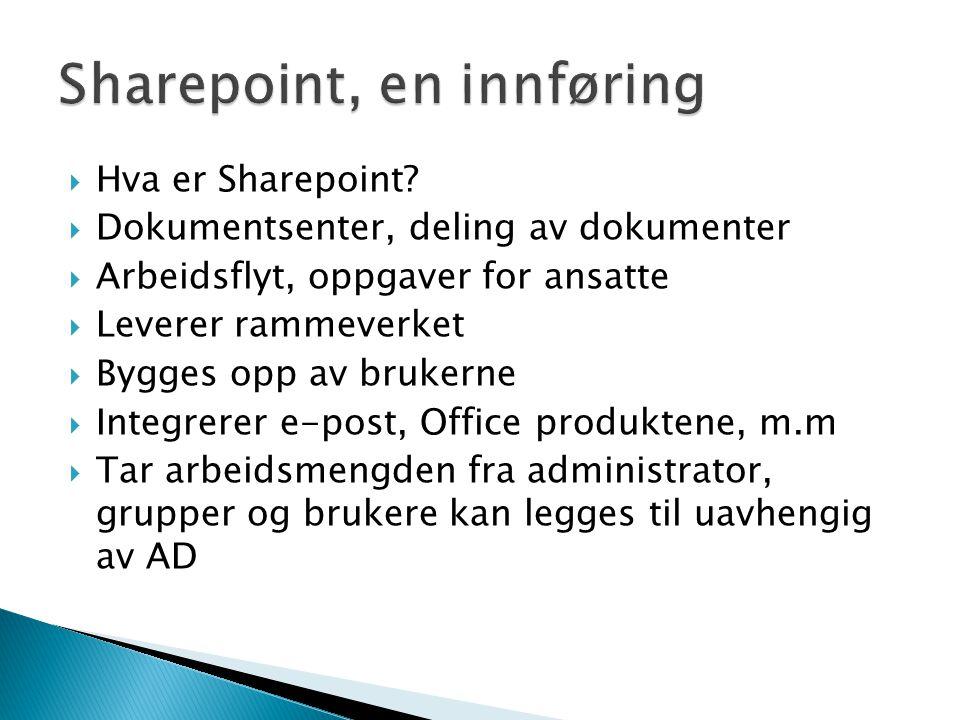 Sharepoint, en innføring