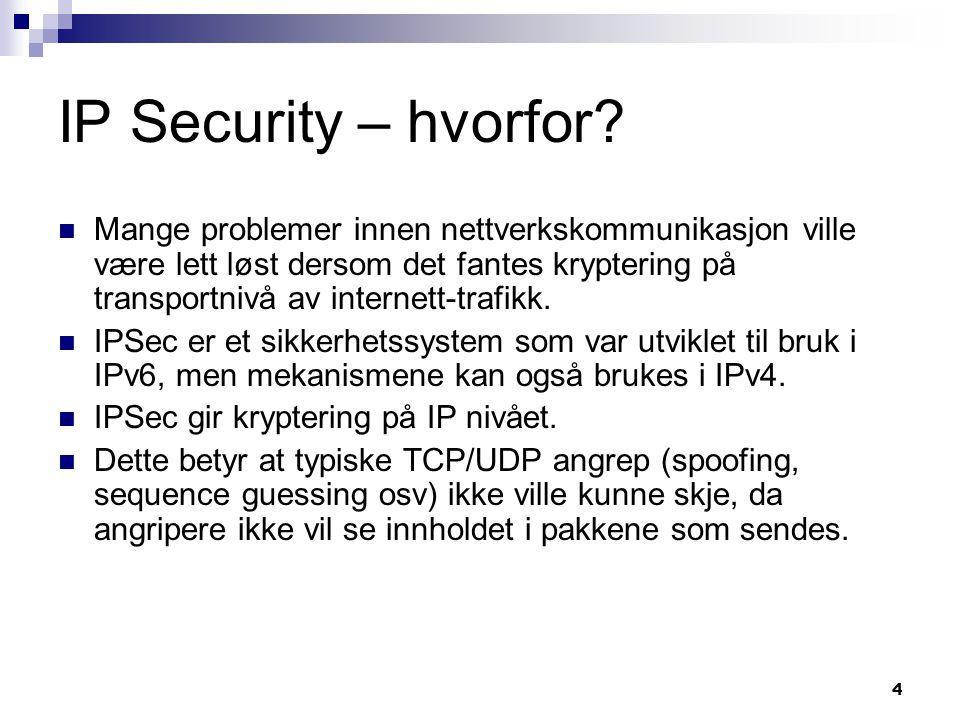 IP Security – hvorfor
