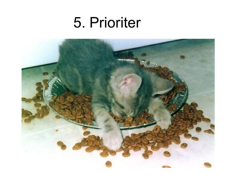 5. Prioriter