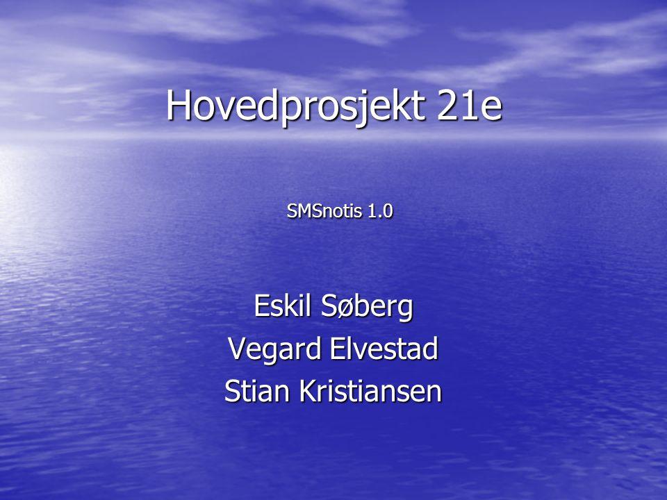 Hovedprosjekt 21e SMSnotis 1.0