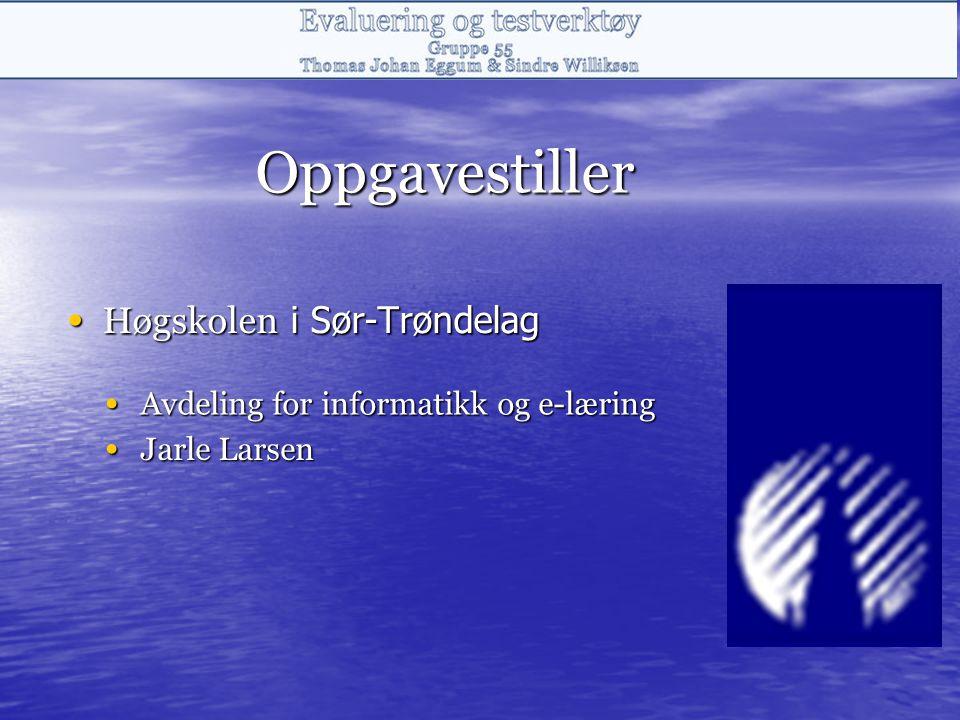 Oppgavestiller Høgskolen i Sør-Trøndelag