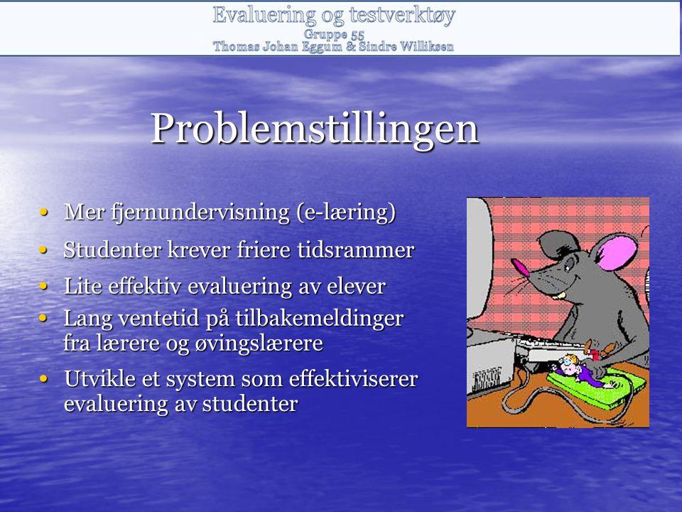 Problemstillingen Mer fjernundervisning (e-læring)