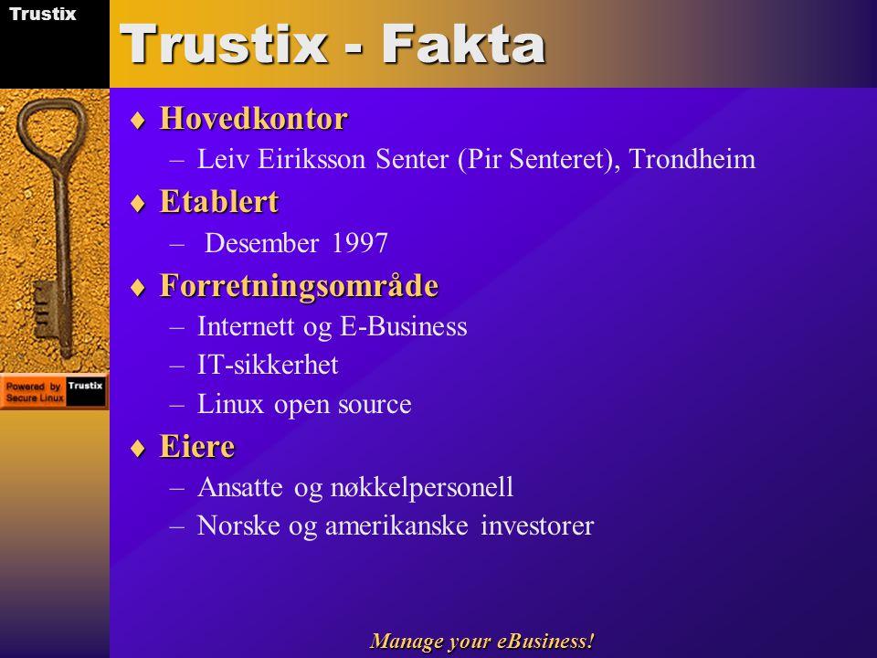 Trustix - Fakta Hovedkontor Etablert Forretningsområde Eiere