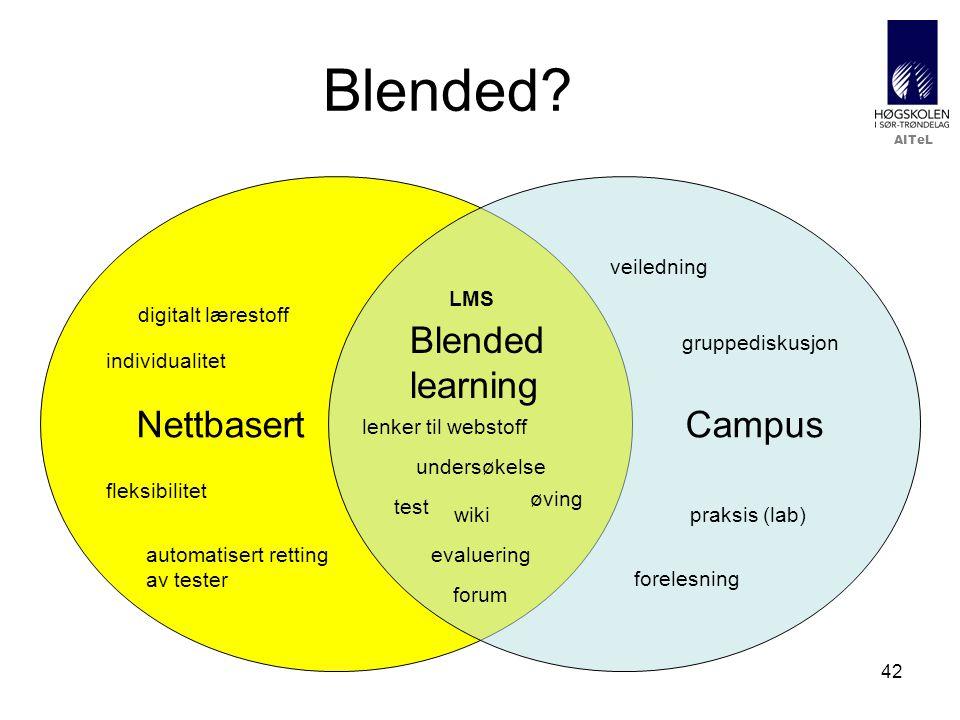 Blended Nettbasert Campus Blended learning veiledning LMS