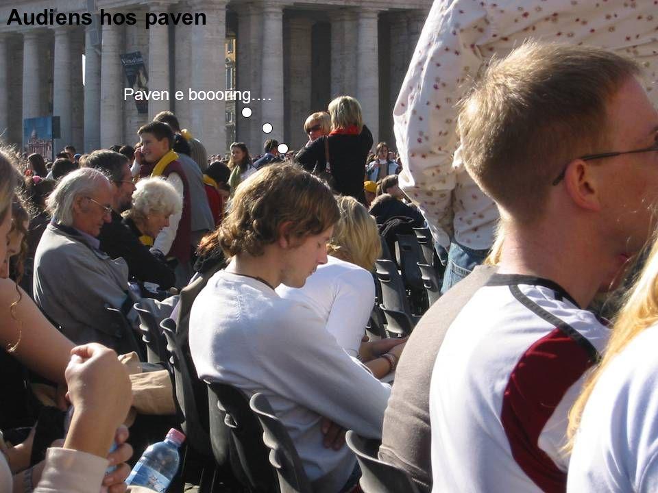 Audiens hos paven Paven e boooring….