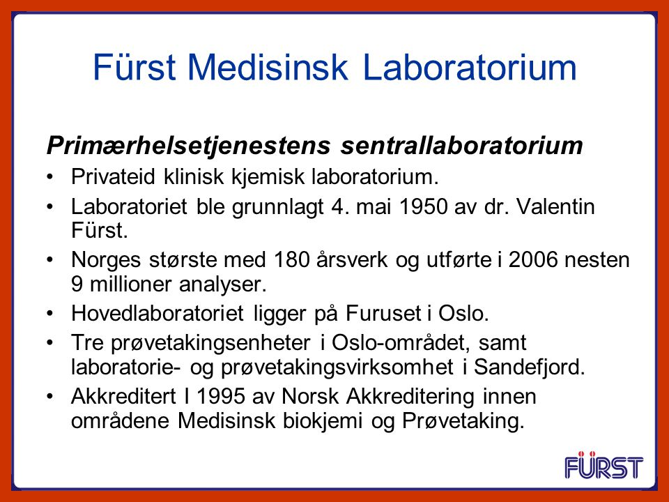 Fürst Medisinsk Laboratorium