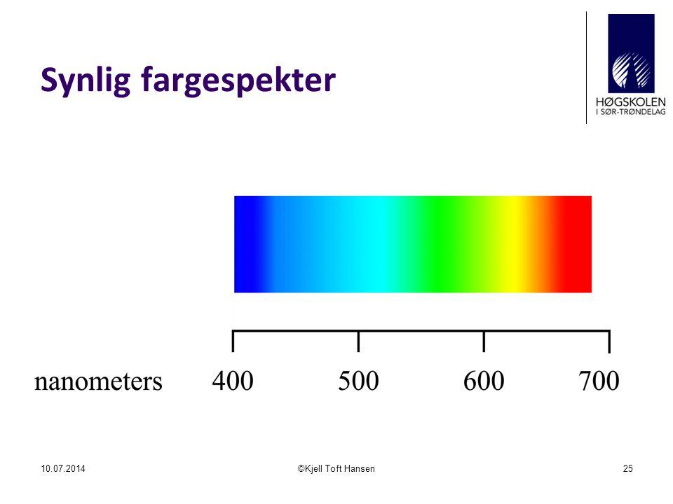 Synlig fargespekter 04.04.2017 ©Kjell Toft Hansen