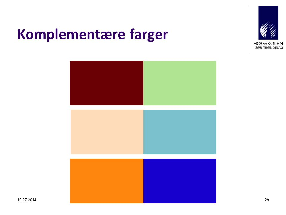 Komplementære farger 04.04.2017 ©Kjell Toft Hansen
