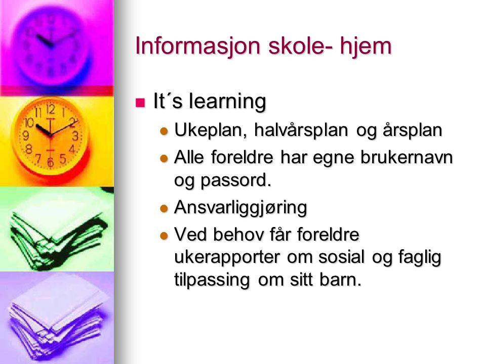 Informasjon skole- hjem