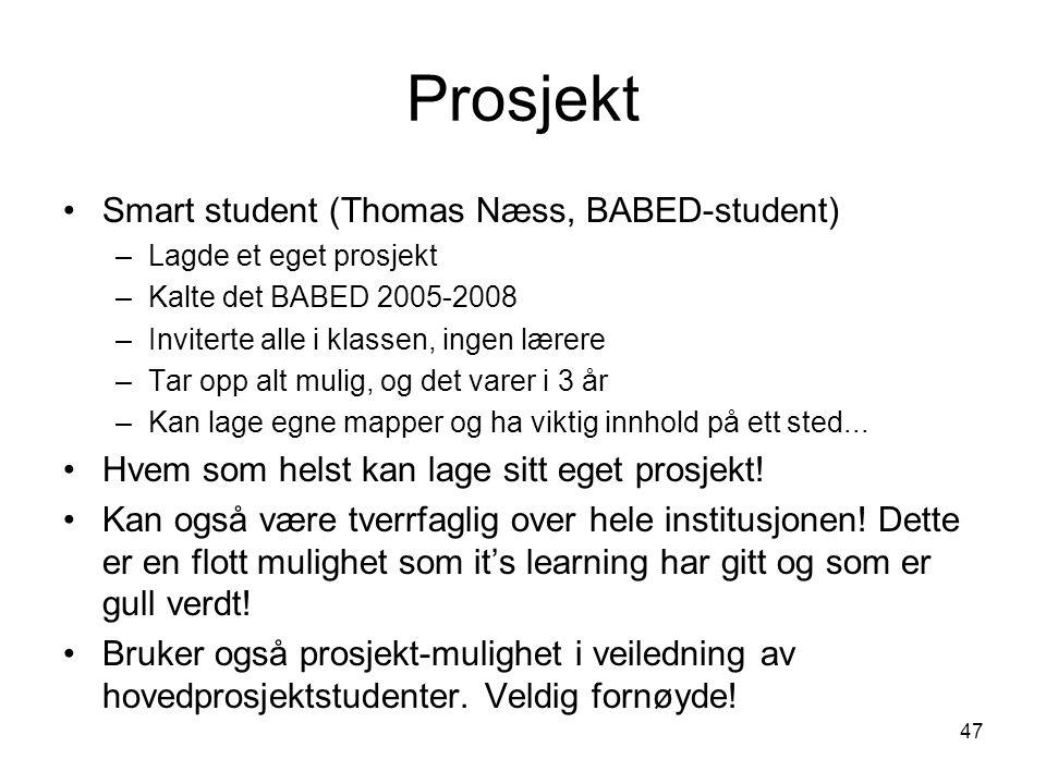 Prosjekt Smart student (Thomas Næss, BABED-student)