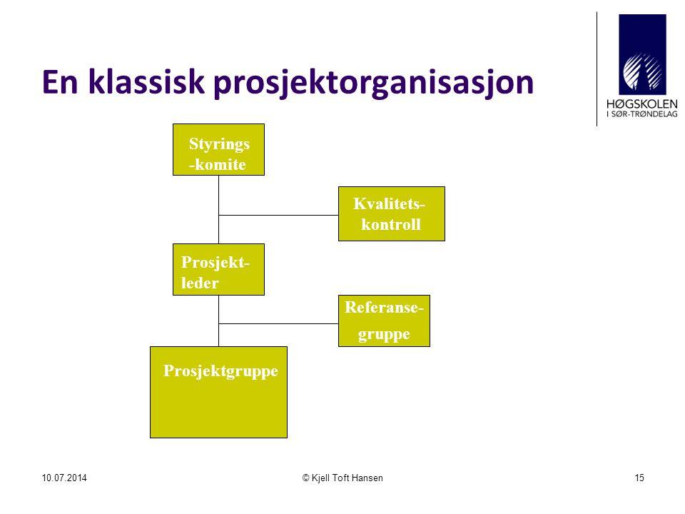 En klassisk prosjektorganisasjon