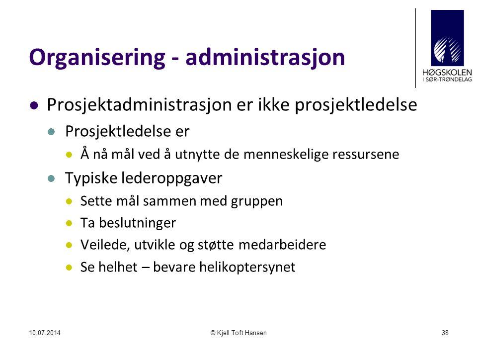 Organisering - administrasjon