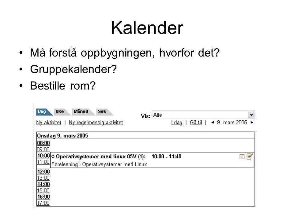 Kalender Må forstå oppbygningen, hvorfor det Gruppekalender