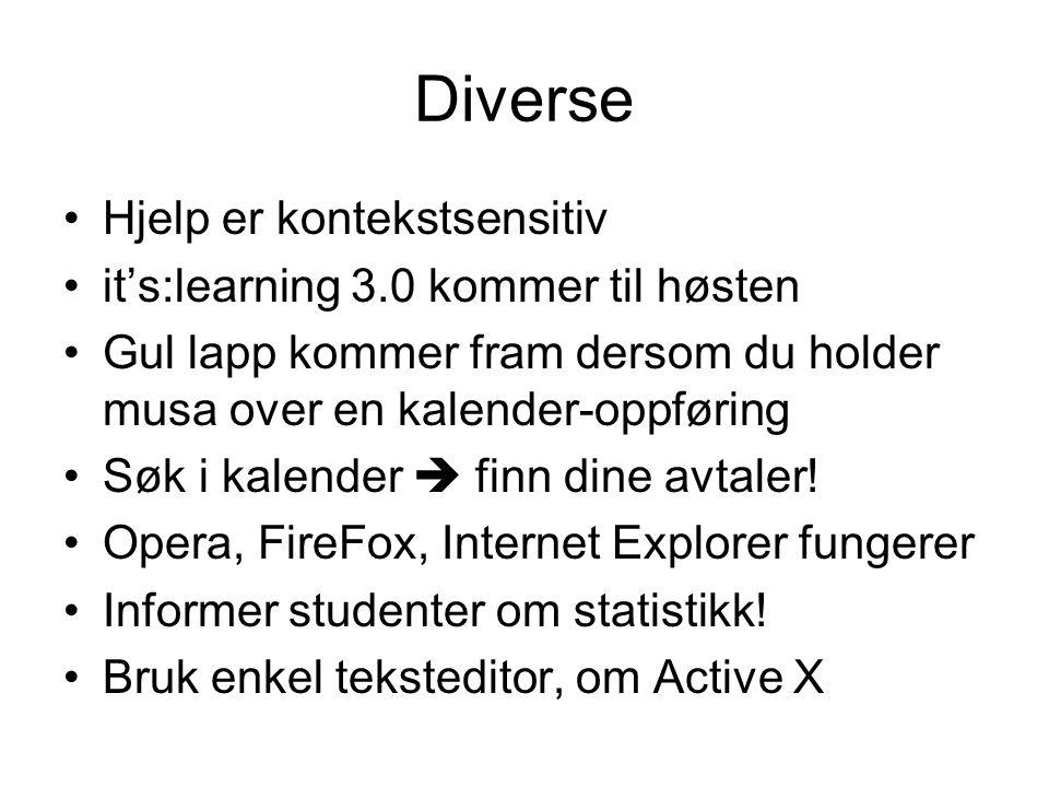 Diverse Hjelp er kontekstsensitiv it's:learning 3.0 kommer til høsten