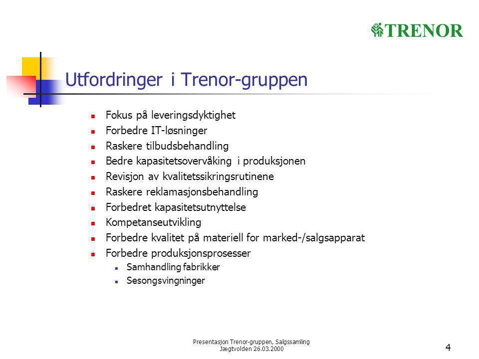 Utfordringer i Trenor-gruppen